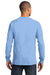 Port & Company PC61LS Mens Essential Long Sleeve Crewneck T-Shirt Light Blue Back