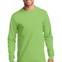 Port & Company Mens Essential Long Sleeve Crewneck T-Shirt - Lime Green
