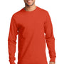 Port & Company Mens Essential Long Sleeve Crewneck T-Shirt - Orange