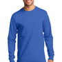 Port & Company Mens Essential Long Sleeve Crewneck T-Shirt - Royal Blue