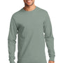 Port & Company Mens Essential Long Sleeve Crewneck T-Shirt - Stonewashed Green