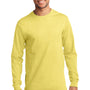 Port & Company Mens Essential Long Sleeve Crewneck T-Shirt - Yellow