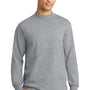 Port & Company Mens Essential Long Sleeve Mock Neck T-Shirt - Heather Grey