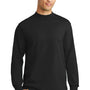 Port & Company Mens Essential Long Sleeve Mock Neck T-Shirt - Jet Back