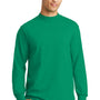 Port & Company Mens Essential Long Sleeve Mock Neck T-Shirt - Kelly Green