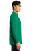 Port & Company PC61M Mens Essential Long Sleeve Mock Neck T-Shirt Kelly Green Side