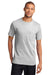 Port & Company PC61P Mens Essential Short Sleeve Crewneck T-Shirt w/ Pocket Ash Grey Front