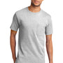 Port & Company Mens Essential Short Sleeve Crewneck T-Shirt w/ Pocket - Ash Grey