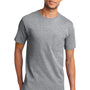 Port & Company Mens Essential Short Sleeve Crewneck T-Shirt w/ Pocket - Heather Grey