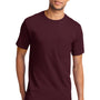 Port & Company Mens Essential Short Sleeve Crewneck T-Shirt w/ Pocket - Athletic Maroon