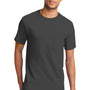 Port & Company Mens Essential Short Sleeve Crewneck T-Shirt w/ Pocket - Charcoal Grey