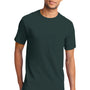 Port & Company Mens Essential Short Sleeve Crewneck T-Shirt w/ Pocket - Dark Green