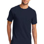 Port & Company Mens Essential Short Sleeve Crewneck T-Shirt w/ Pocket - Deep Navy Blue