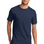 Port & Company Mens Essential Short Sleeve Crewneck T-Shirt w/ Pocket - Navy Blue