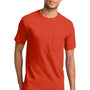 Port & Company Mens Essential Short Sleeve Crewneck T-Shirt w/ Pocket - Orange