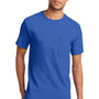 Port & Company Mens Essential Short Sleeve Crewneck T-Shirt w/ Pocket - Royal Blue