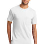 Port & Company Mens Essential Short Sleeve Crewneck T-Shirt w/ Pocket - White