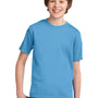 Port & Company Youth Essential Short Sleeve Crewneck T-Shirt - Aquatic Blue