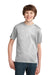 Port & Company PC61Y Youth Essential Short Sleeve Crewneck T-Shirt Ash Grey Front