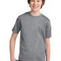 Port & Company Youth Essential Short Sleeve Crewneck T-Shirt - Heather Grey