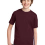 Port & Company Youth Essential Short Sleeve Crewneck T-Shirt - Athletic Maroon