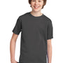 Port & Company Youth Essential Short Sleeve Crewneck T-Shirt - Charcoal Grey