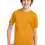 Port & Company Youth Essential Short Sleeve Crewneck T-Shirt - Gold