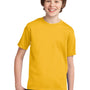 Port & Company Youth Essential Short Sleeve Crewneck T-Shirt - Lemon Yellow