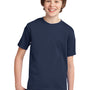 Port & Company Youth Essential Short Sleeve Crewneck T-Shirt - Navy Blue