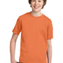 Port & Company Youth Essential Short Sleeve Crewneck T-Shirt - Orange Sherbet