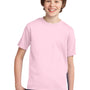 Port & Company Youth Essential Short Sleeve Crewneck T-Shirt - Pale Pink