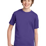 Port & Company Youth Essential Short Sleeve Crewneck T-Shirt - Purple