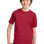 Port & Company Youth Essential Short Sleeve Crewneck T-Shirt - Red