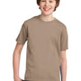 Port & Company Youth Essential Short Sleeve Crewneck T-Shirt - Sand