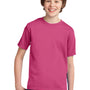 Port & Company Youth Essential Short Sleeve Crewneck T-Shirt - Sangria Pink