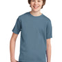 Port & Company Youth Essential Short Sleeve Crewneck T-Shirt - Stonewashed Blue