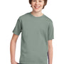 Port & Company Youth Essential Short Sleeve Crewneck T-Shirt - Stonewashed Green