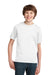 Port & Company PC61Y Youth Essential Short Sleeve Crewneck T-Shirt White Front