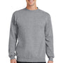 Port & Company Mens Core Fleece Crewneck Sweatshirt - Heather Grey