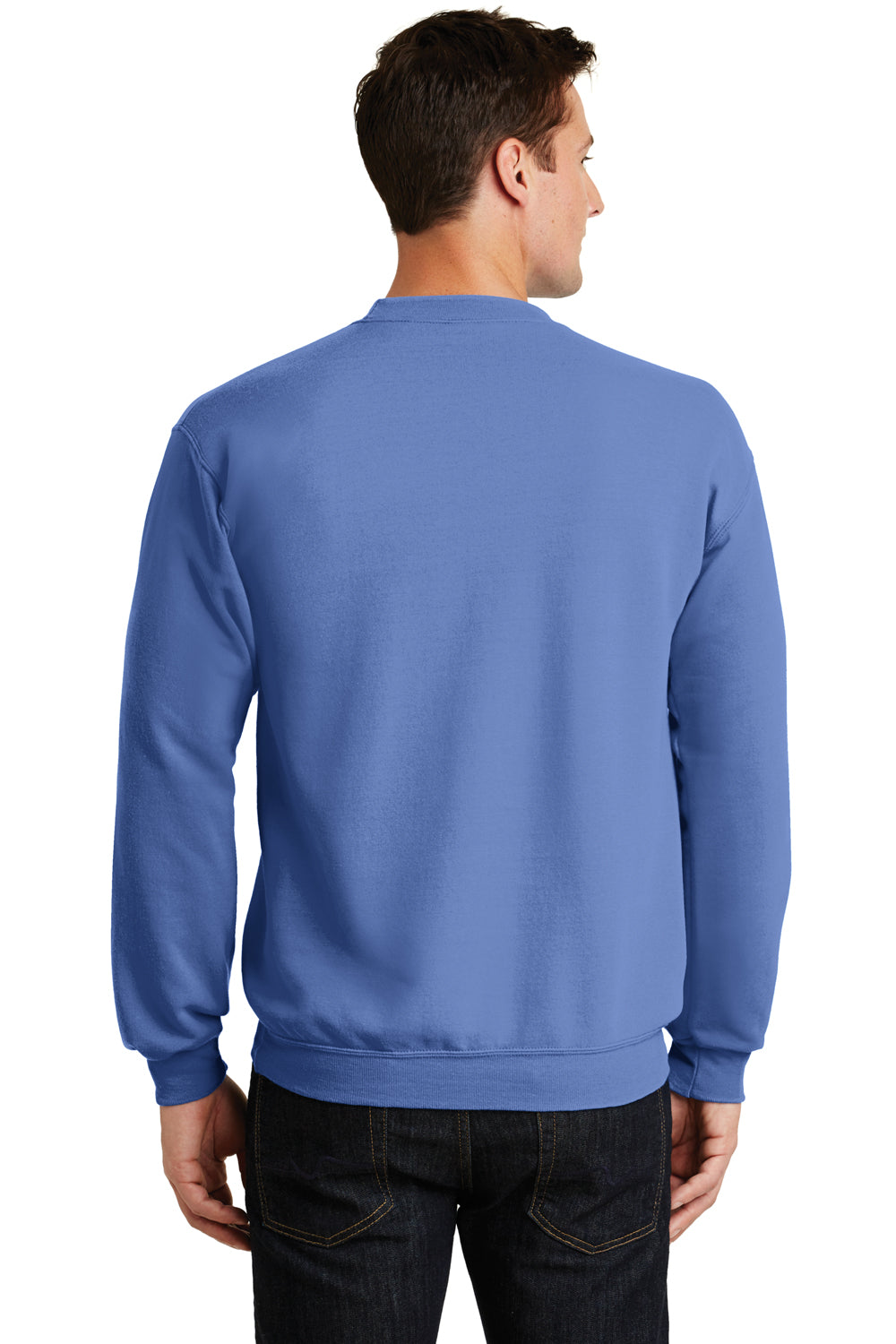 Port & Company PC78 Mens Core Fleece Crewneck Sweatshirt Carolina Blue Back