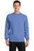 Port & Company PC78 Mens Core Fleece Crewneck Sweatshirt Carolina Blue Front