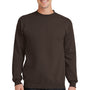 Port & Company Mens Core Fleece Crewneck Sweatshirt - Dark Chocolate Brown