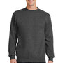Port & Company Mens Core Fleece Crewneck Sweatshirt - Heather Dark Grey