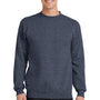 Port & Company Mens Core Fleece Crewneck Sweatshirt - Heather Navy Blue