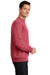 Port & Company PC78 Mens Core Fleece Crewneck Sweatshirt Heather Red Side