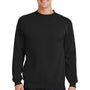 Port & Company Mens Core Fleece Crewneck Sweatshirt - Jet Back