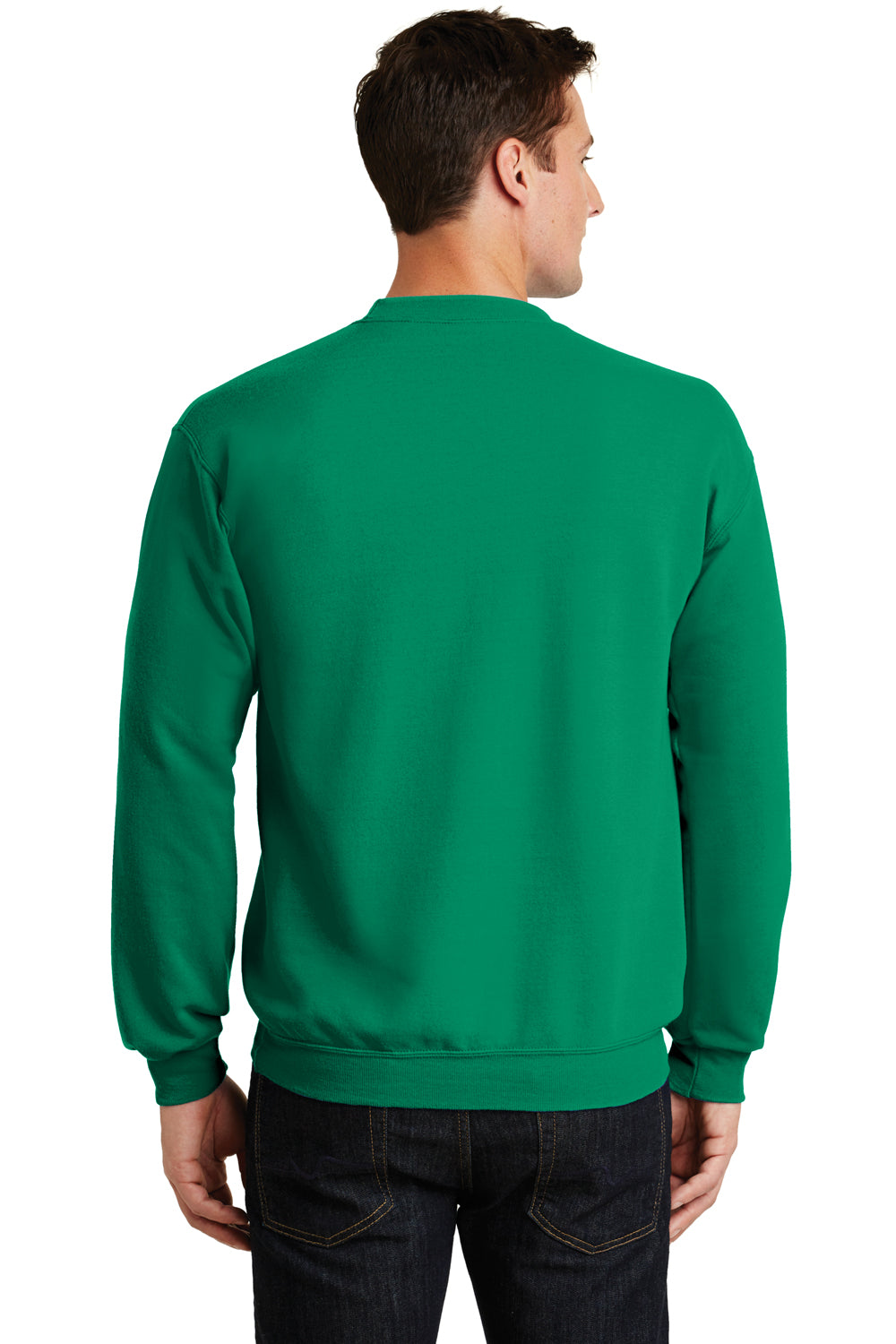 Port & Company PC78 Mens Core Fleece Crewneck Sweatshirt Kelly Green Back