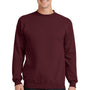 Port & Company Mens Core Fleece Crewneck Sweatshirt - Maroon