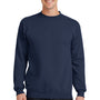 Port & Company Mens Core Fleece Crewneck Sweatshirt - Navy Blue