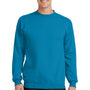 Port & Company Mens Core Fleece Crewneck Sweatshirt - Neon Blue